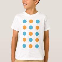 Blue and Orange Polka Dots T-Shirt