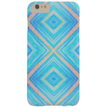 merydesigns Blue and orange rectangles iphone barely there iPhone 6 plus case