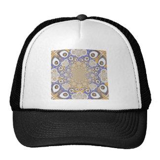 Blue and Orange Retro Pattern Design Trucker Hat