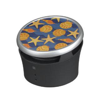 Blue And Orange Seashell Pattern Speaker