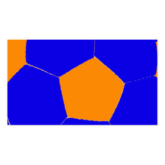 Blue and Orange Soccer Ball Double-Sided Standard Business Cards (Pack Of 100)