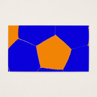 Blue and Orange Soccer Ball Business Card