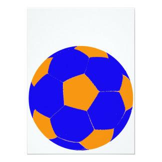 Blue and Orange Soccer Ball Card