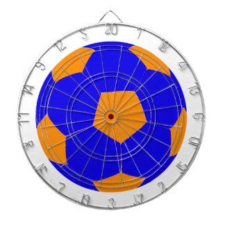 Blue and Orange Soccer Ball Dartboard