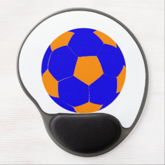 Blue and Orange Soccer Ball Gel Mouse Mat