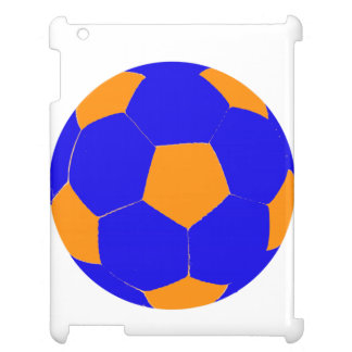 Blue and Orange Soccer Ball iPad Cases