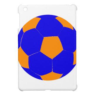 Blue and Orange Soccer Ball iPad Mini Cases