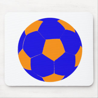 Blue and Orange Soccer Ball Mousepad