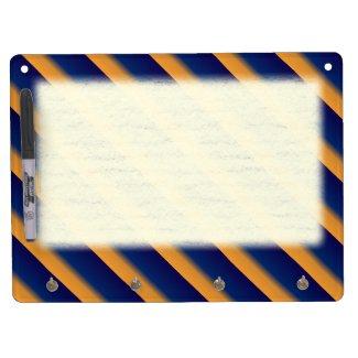 Blue and Orange Stripe Dry Erase Board With Keychain Holder