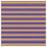 [ Thumbnail: Blue and Orange Striped/Lined Pattern Fabric ]