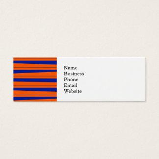 Blue and Orange Stripes Bold Gators Pattern Mini Business Card