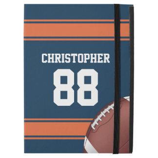 Blue and Orange Stripes Jersey Grid Iron Football iPad Pro Case