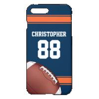 Blue and Orange Stripes Jersey Grid Iron Football iPhone 7 Plus Case