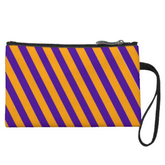 Blue and Orange Stripes Small Clutch Bag College