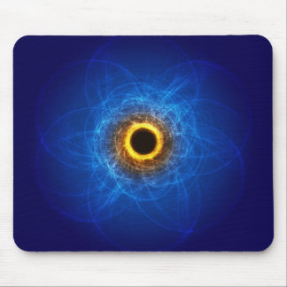 Blue and orange Swirl mouse pad