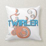 Blue and Orange Twirler Customizable Pillow