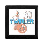 Blue and Orange Twirler Trinket Boxes