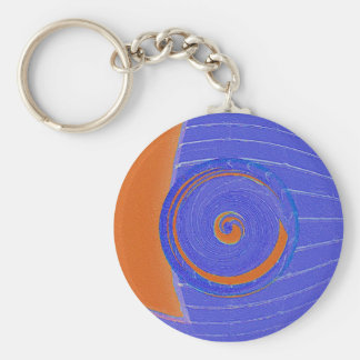 Blue and Orange Vortex Keychain