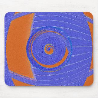 Blue and Orange Vortex Mouse Pad
