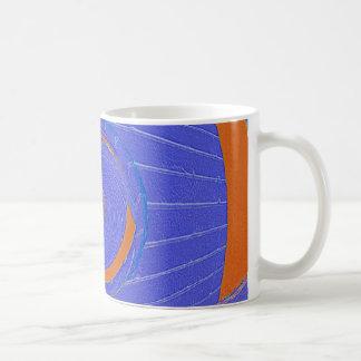 Blue and Orange Vortex Classic White Coffee Mug