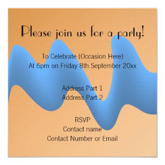 Blue and Orange Wave Image Design. Card