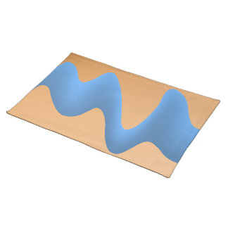 Blue and Orange Wave Image Design. Place Mats