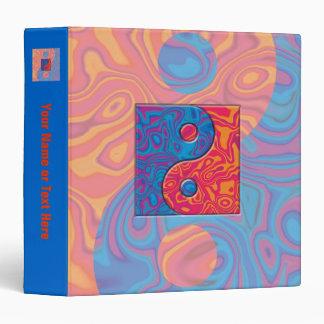 Blue and Orange Yin Yang Symbol Binder
