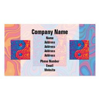 Blue and Orange Yin Yang Symbol Business Card