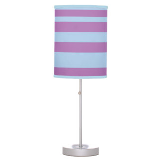 Blue and Orchid Purple Striped Lamp