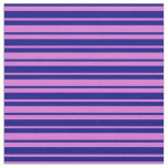 [ Thumbnail: Blue and Orchid Striped/Lined Pattern Fabric ]