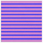 [ Thumbnail: Blue and Orchid Striped Pattern Fabric ]