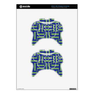 Blue and Pea Green T Weave Xbox 360 Controller Decal