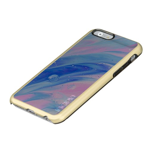 blue and pin abstract painting incipio feather shine iPhone 6 case