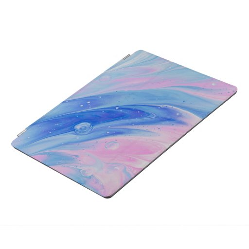 blue and pin abstract painting iPad pro cover