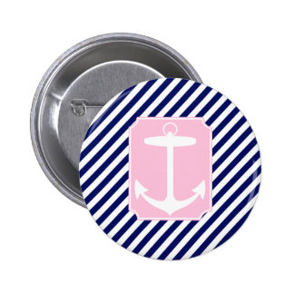 Blue and Pink Anchor Button