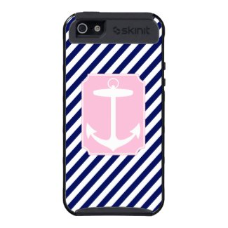 Blue and Pink Anchor iPhone 5 Covers