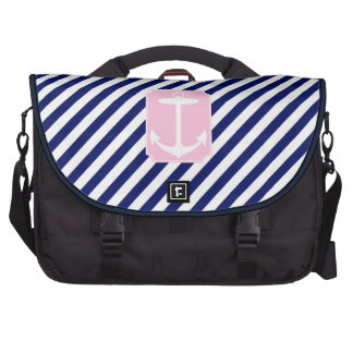 Blue and Pink Anchor Bag For Laptop