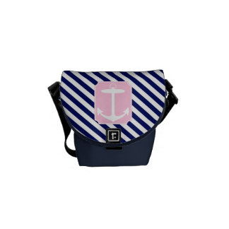 Blue and Pink Anchor Courier Bags