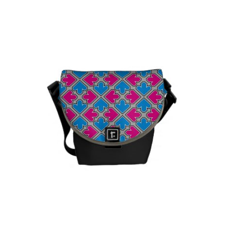 Blue and Pink Arrow Spread Pattern Courier Bag