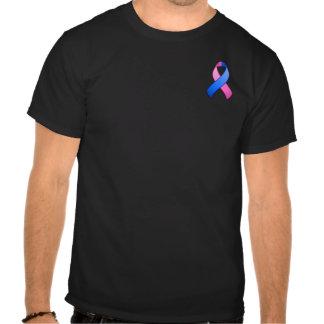 Blue and Pink Awareness Pocket Ribbon T-Shirt