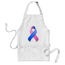 Blue and Pink Awareness Ribbon Apron