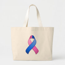 Blue and Pink Awareness Ribbon Bag