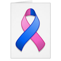 Blue and Pink Awareness Ribbon Card
