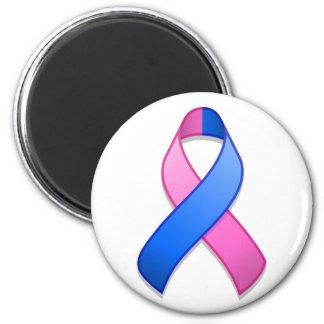 Blue and Pink Awareness Ribbon Magnet
