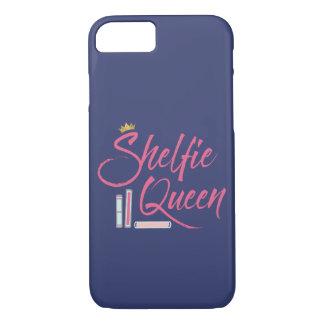 Blue and Pink Book Lover Shelfie Queen iPhone 7 Case