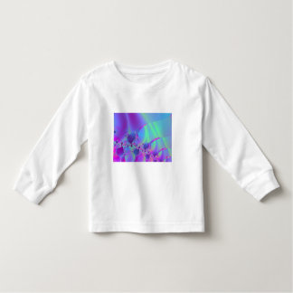 Blue And Pink Bubble Fractal Toddler T-shirt