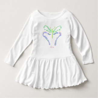 Blue and Pink Butterfly toddler dress