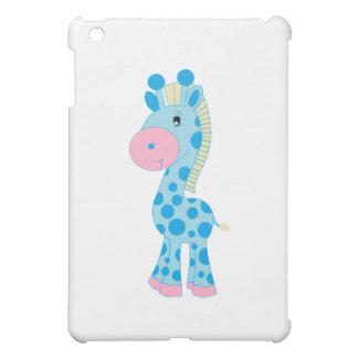 Blue and Pink Cartoon Baby Giraffe iPad Mini Covers