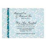 Blue and Pink Cherry Blossoms Invites