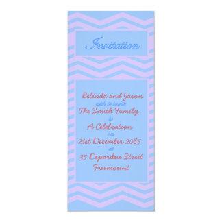 Blue and Pink Chevron Celebration Invitation